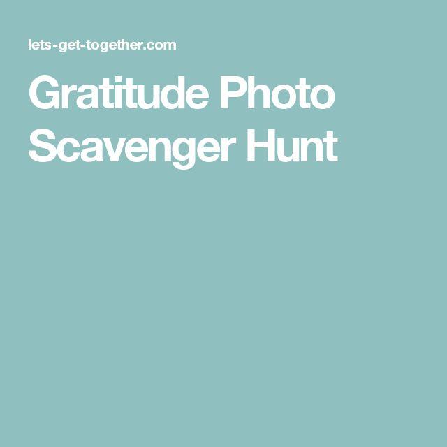 Gratitude Photo Scavenger Hunt