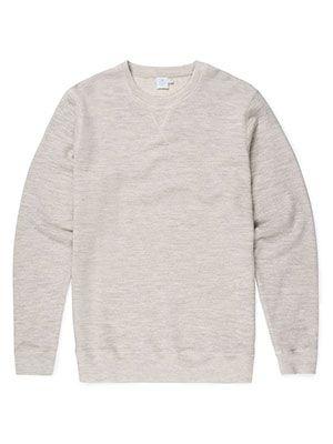 Sunspel Wool Cotton Loopback Sweatshirt, £95