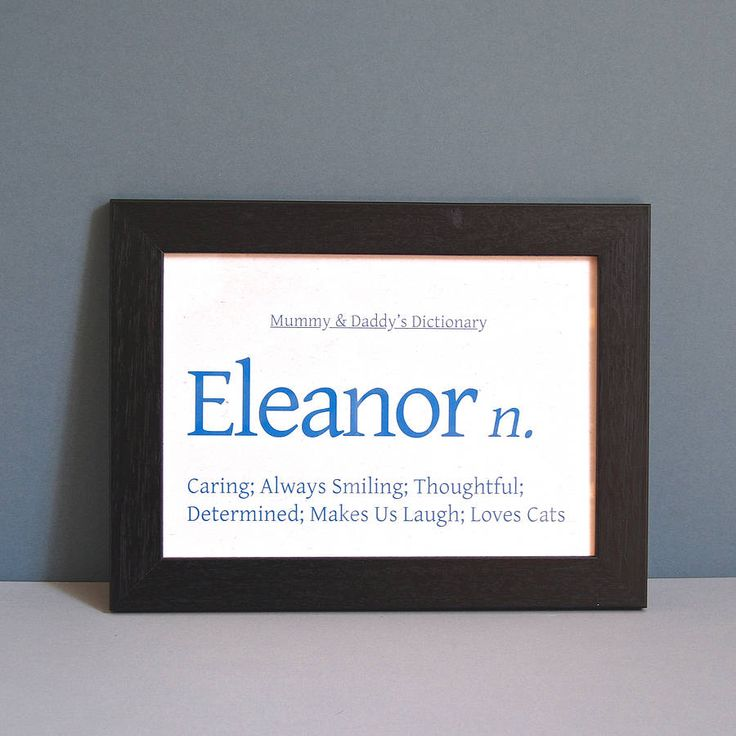 personalised colour dictionary unframed print by ruby wren designs | notonthehighstreet.com