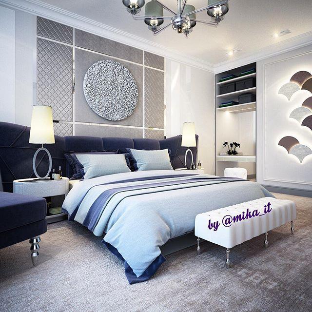 Эта темно-фиолетовая кроватка улетает в архив, но мне нравится этот вариант, так что пусть останется здесь. #egorova_marina #domoff_group #domoff_interiors #domof #3dvisualization #3dmaxdesign #vrayrender #3dviz #luxuryinterior #luxuryinteriors