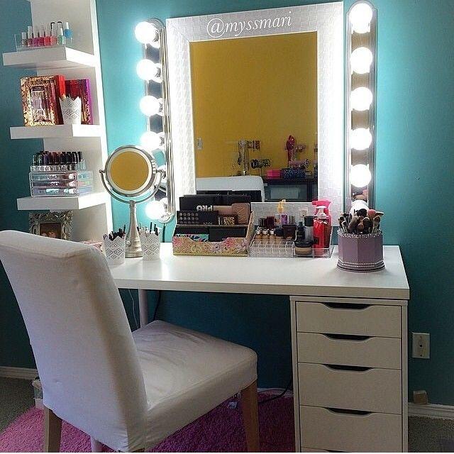 258 best makeup vanity ideas images on pinterest for Beauty vanity desk