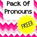 This packet includes 20 picture cards that can target pronouns. I use this activity to teach and assess pronouns both receptively and expressively Repinned by  SOS Inc. Resources  http://pinterest.com/sostherapy.