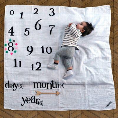 Avec son coton tout doux, le lange anniversaire est l'objet idéal pour voir grandir votre bébé. C'est aussi une idée très originale pour les cadeaux de naissance. Vous surprendrez tout le monde!