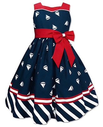 Jayne Copeland Kids Dress, Little Girls Sailboat Dress - Kids Dresses - Macy's