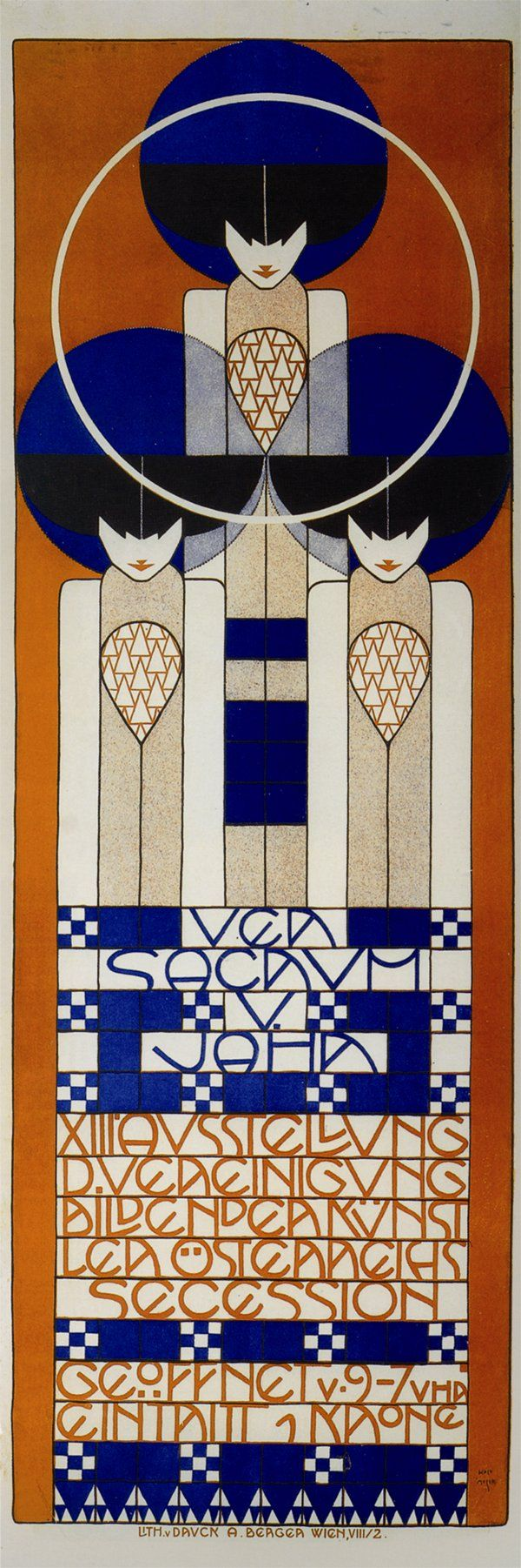 Poster design 20th century - Koloman Moser Poster For The Thirteenth Vienna Secession Exhibition 1902