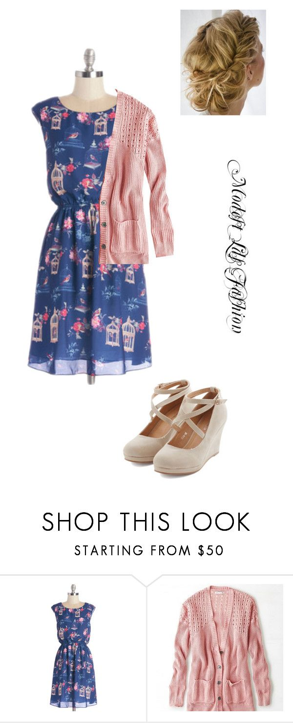 """""""Modest_Lds_Fashion"""" by modest-mormon-fashion ❤ liked on Polyvore featuring Pink Martini and American Eagle Outfitters"""