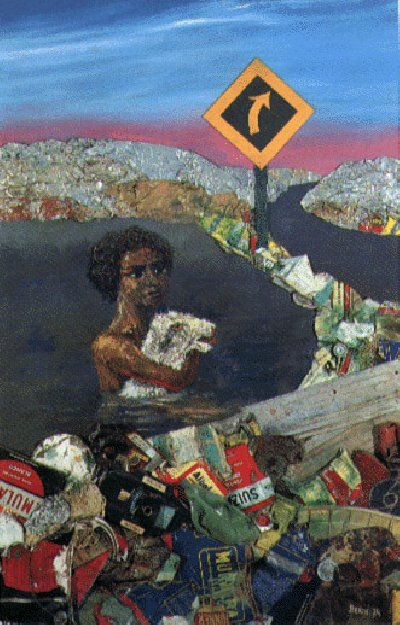 Juanito en la laguna, 1973, Berni, Antonio pintor argentino