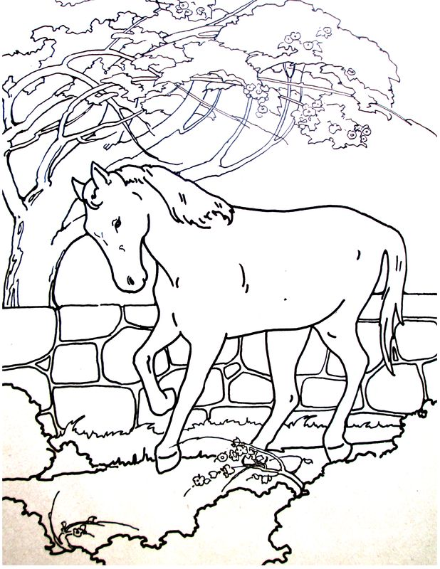 87 Coloring Pages Of Christmas Horses