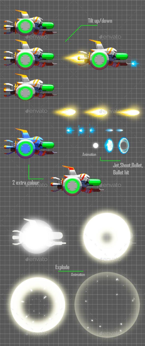 Space Ship Sprite - Sprites #Game #Assets Download here: https://graphicriver.net/item/space-ship-sprite/17449093?ref=alena994