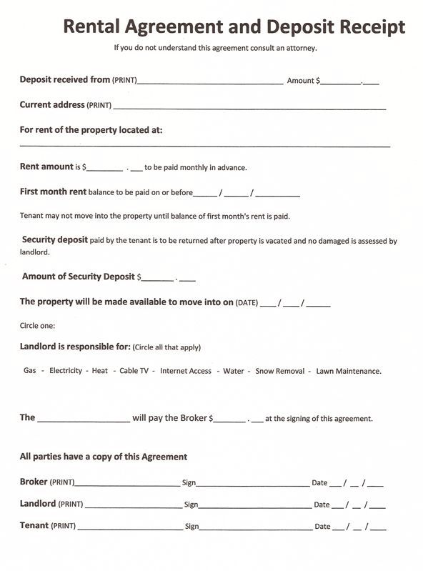 Free Rental Agreement Form 9 Things You Most Likely Didn T Know