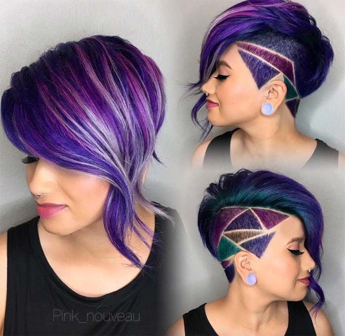 Short Hairstyles for Women: Diamond Undercut #shorthairstyles