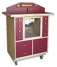 Creston woodworking Router Table Plans.  Appears to be a well crafted table