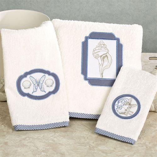Seaside Coastal Bath Towel Set Light Cream Bath Hand Fingertip