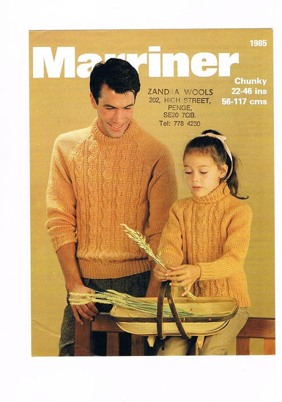 His & Hers Jumpers Vintage Knitting Pattern by AuntieBsMemories