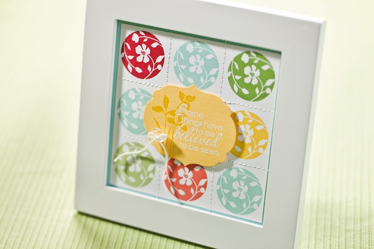 Quick framed art using the Just Believe set.