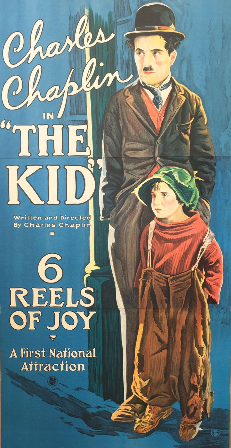 The Kid is a 1921 American silent comedy-drama film written by, produced by, directed by, and starring Charlie Chaplin, and features Jackie Coogan as his adopted son and sidekick https://en.wikipedia.org/wiki/The_Kid_(1921_film) (Fr=Le Kid)