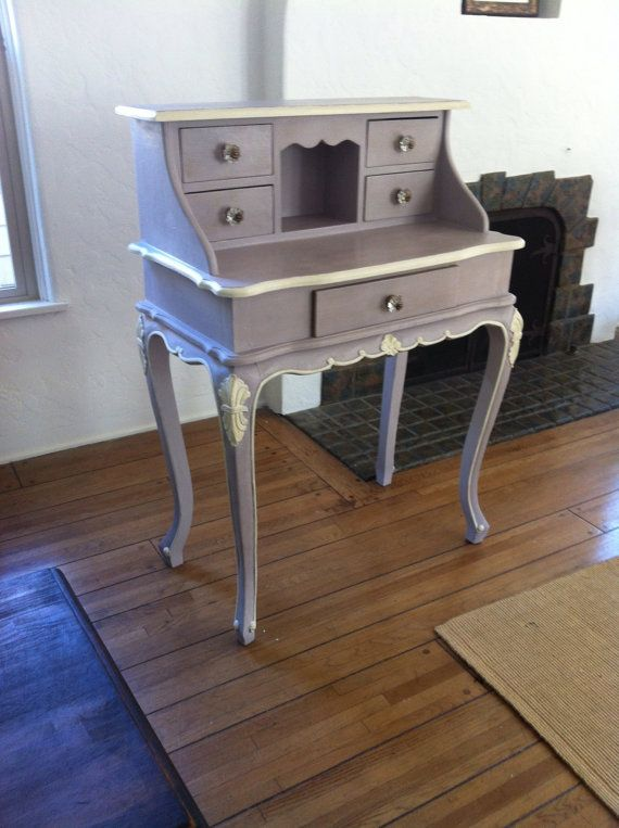 Antique lavender and old white vanity desk by FurnishedDreams, $100.00