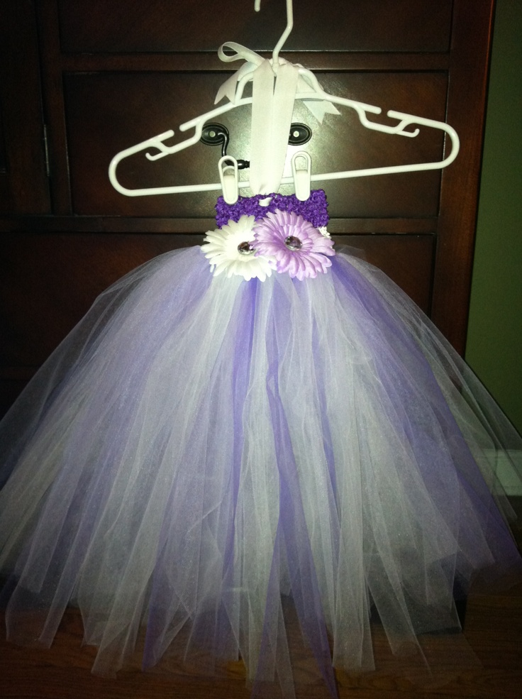 purple and white tutu dress