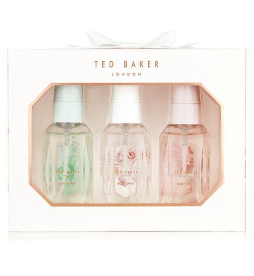 Ted Baker White Mini Body Spray Trio - Boots