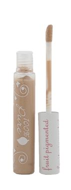 FRUIT PIGMENTED  BRIGHTENING CONCEALER WITH SPF20    100% Natural, 100% Vegetarian, Gluten free    100% Natural concealers made with caffeine rich green tea, green coffee and concentrated with potent anti-aging vitamins, antioxidants and nourishing rosehip oil. Made with pigments from fruits and vegetables. Does not contain synthetic chemicals, artificial fragrances or any other toxins. Truly, 100% Pure.  Net wt. 0.24 oz / 7 g     US $16.00