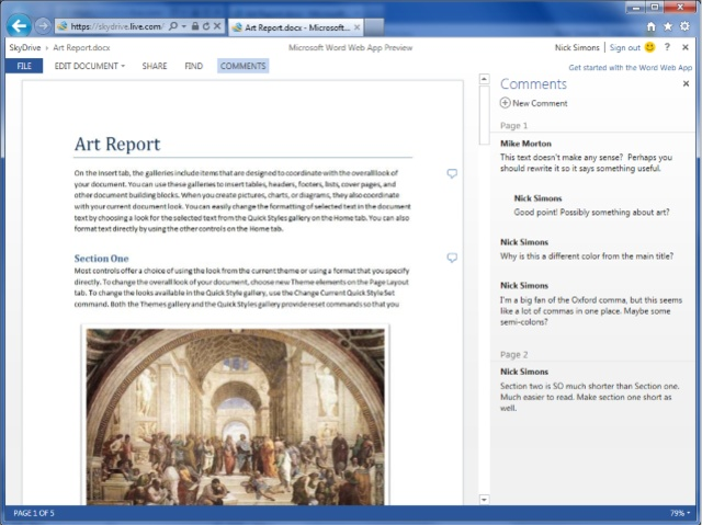 Update to Microsoft's free Office Web Apps suite goes public