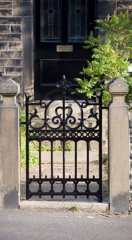 Best 25 wrought iron gates ideas on pinterest for Iron garden gate designs