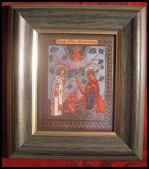 Elämänpuuikoni. Kunnioitettu Jumalansynnyttäjä Neitsyt Maria.