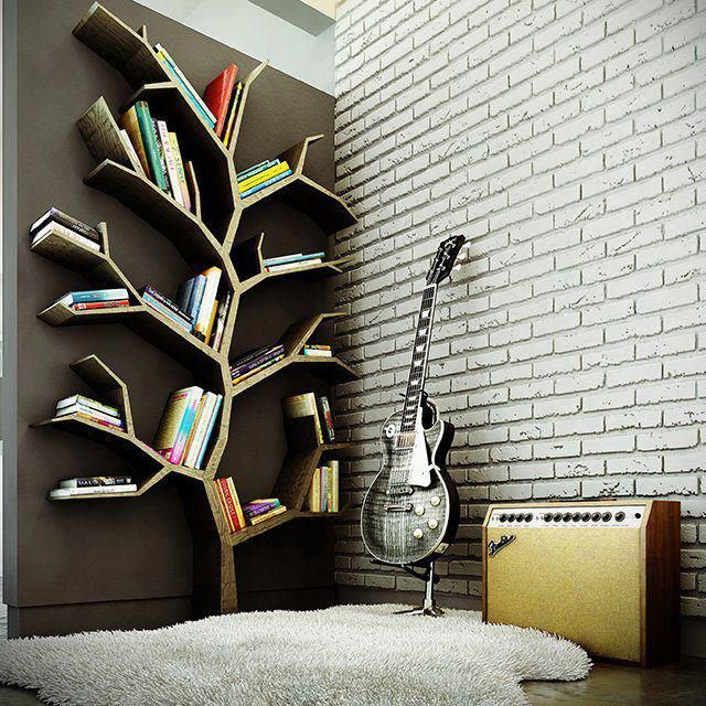 Great book shelves.