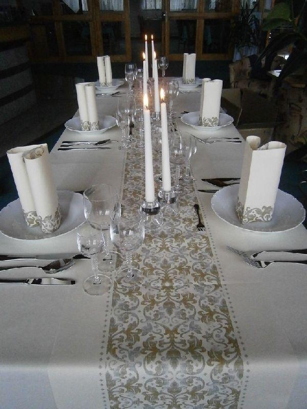 Luxusné obrúsky Festiva champagne 40x40cm (50ks)
