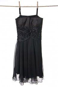 Sukienka z warstwą tiulu z prążkowaną górą