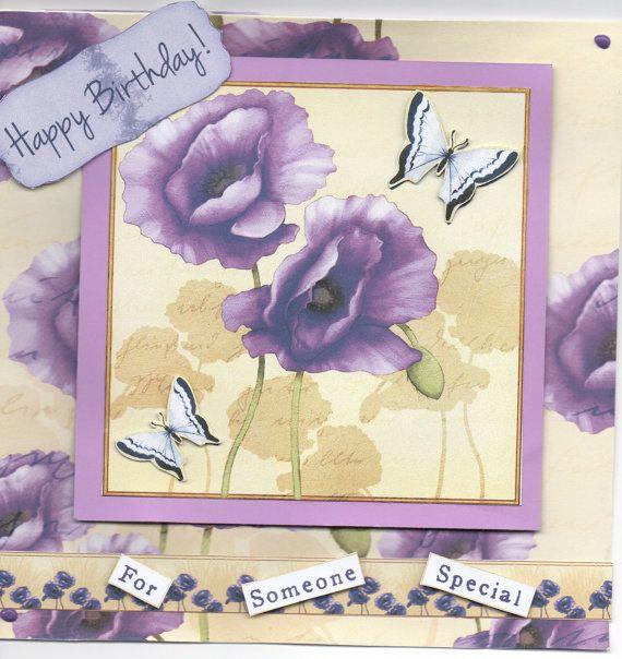 Debbie Moore cd rom card purple card purple by twistedpixie77