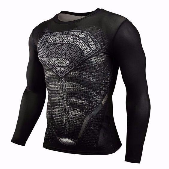 Camisa de Compresión de Fitness Superman VS Batman 3D Camisetas Impresas Hombres Raglan Manga Larga Cosplay Ropa Superior Masculina Camisas en Camisetas de Ropa y Accesorios en AliExpress.com | Alibaba Group