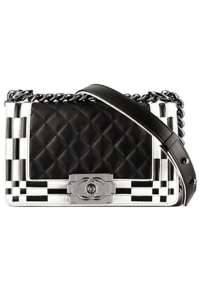 Chanel - Resort Accessories - 2014.  Love the black and white.