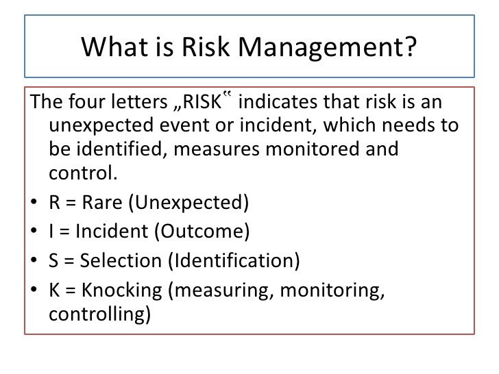 a risk is an event or Speculative risk uncertainty about an event under consideration that could produce either a profit or a loss, such as a business venture or a gambling transaction.