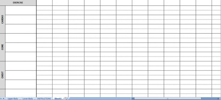 Blank Workout Log Sheet Check out this site for more stuff on – Blank Workout Sheet