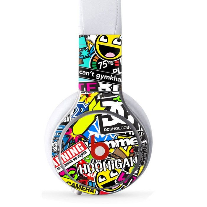 Various Logo decal for Monster Beats Pro wireless headphones