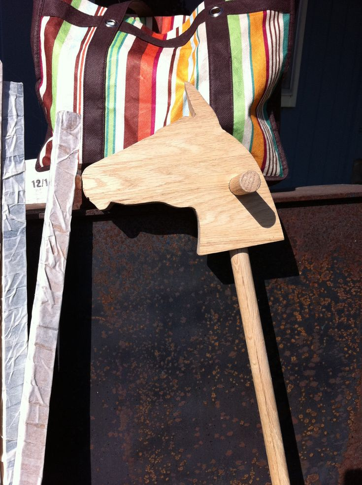 Wooden Stick Horse. $35.00, via Etsy.