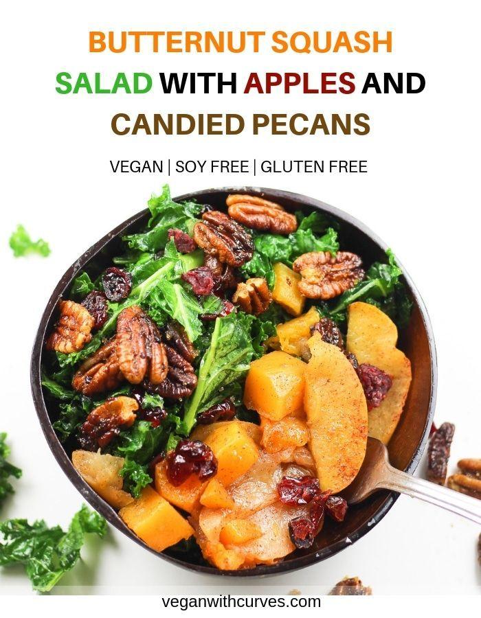 Vegan Protein Salad With Tempeh Bacon And Quinoa Recipe Butternut Squash Salad Vegan Thanksgiving Recipes Easy Salad Recipes