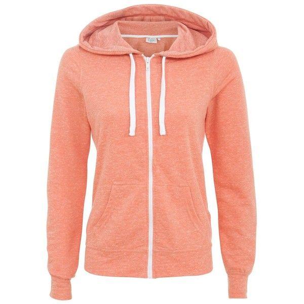 Petite Coral Zip Up Hoodie ($8.82) ❤ liked on Polyvore featuring tops, hoodies, petite, zip hooded sweatshirt, red hoodies, red zipper hoodie, zip hoodies and zip hoodie