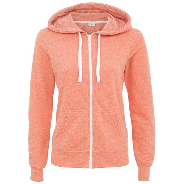 Petite Coral Zip Up Hoodie ($8.82) ❤ liked on Polyvore featuring tops, hoodies, petite, zip hooded sweatshirt, red hoodies, red zipper hoodie, zip hoodies and zip hoodie
