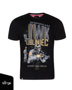 "Koszulka ""Wspieram JWK"" czarna"