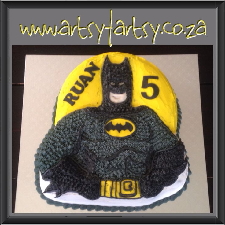 Batman Novelty Tin Butter Icing Cake #batmancake