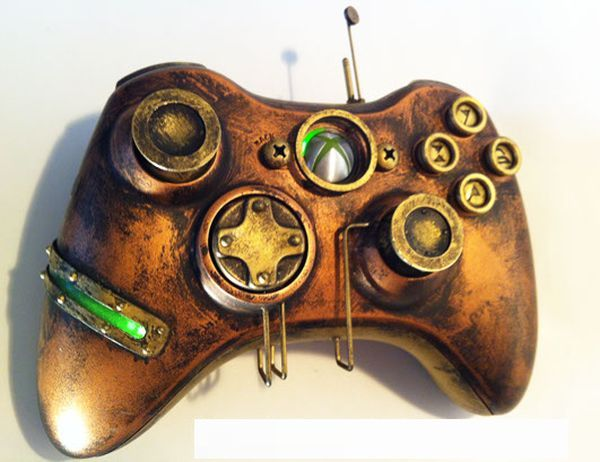 XBOX 360 Controller wholly modified into a rugged steampunk 360 controller