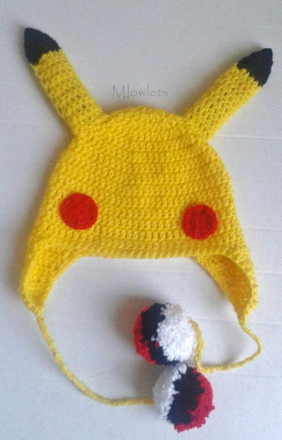0f3e3fb9499aa2 ... australia santa hat pikachu pokemon pikachu inspired beanie with  pokeball pom poms pikachu hat pikachu costume spain dolphin ...