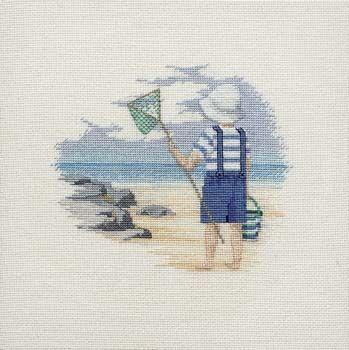 Shrimping - Memories Cross Stitch Kit from Derwentwater Designs
