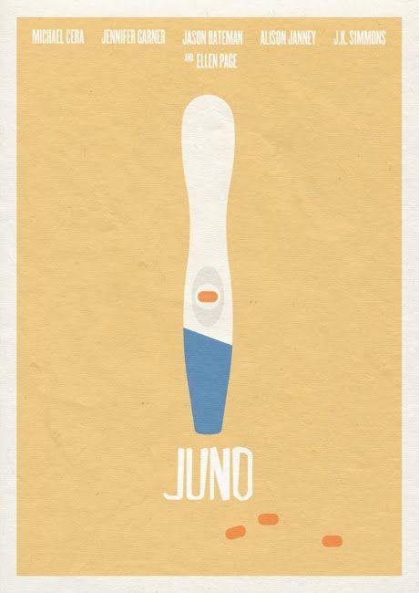 Juno (2007) ~ Minimal Movie Poster by John Cheatle Osborne #amusementphile