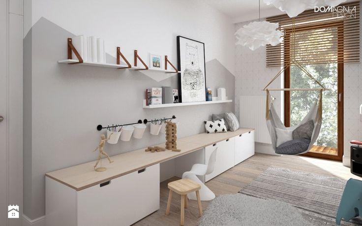 Zielono mi - Średni pokój dziecka dla dziewczynki dla nastolatka, styl skandynawski - zdjęcie od DOMagała Design
