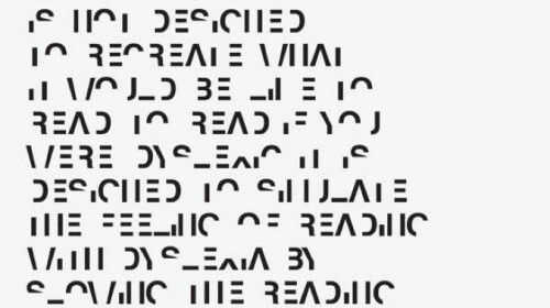 Dit is een voorbeeld van wat je ziet als je dislexie hebt. Dyslexie valt onder het basisaanbod. Dyslexie is een term die in de wetenschap gebruikt wordt voor ernstige problemen met het kunnen lezen van woorden.