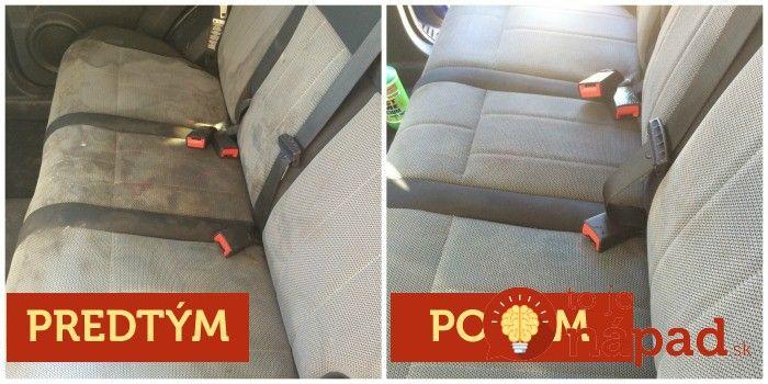 Stačí chvíľka nepozornosti a na čalúnení, tapacíre a dokonca aj na kobercoch vo vašom aute sa objavia nepekné škvrny. Vyčistite ich rýchlo, jednoducho a za pár centov. Vaše auto bude opäť ako nové!