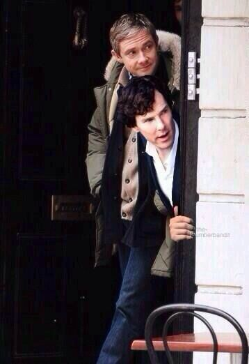 """John, do you think they've left yet?"" ""Sherlock you'll have to face it sooner or later,the fangirls have seen you and they won't stop till they find you."" ""Why would they want to find me? I'm a high functioning sociopath, not a model."" ""Try telling them that"""
